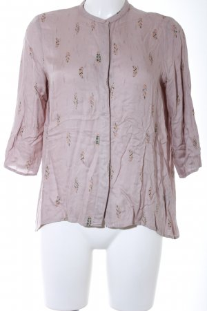 Sessun Kurzarm-Bluse abstraktes Muster Casual-Look