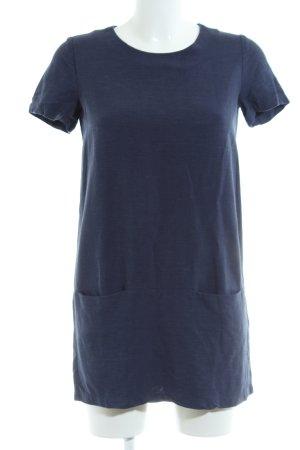 Sessun Kurzarmkleid blau meliert Casual-Look