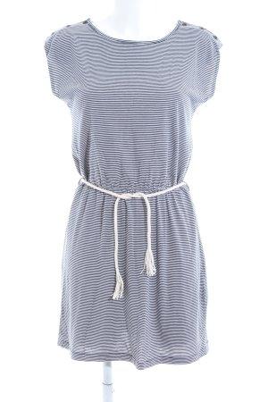 Sessun Minikleid schwarz-weiß Streifenmuster Casual-Look