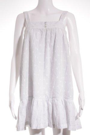 Sessun Minikleid weiß-graublau Streifenmuster Casual-Look
