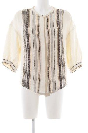 Sessun Oversized Bluse Streifenmuster Vintage-Look