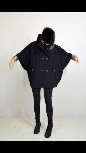 Sessun Cappotto in lana blu scuro