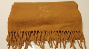 Sessun Sciarpa di lana giallo scuro Lana