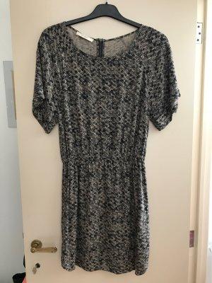 Sessun Vestido de manga corta beige-negro Viscosa