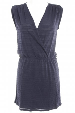 Sessun Vestido elástico azul oscuro estampado a rayas look casual