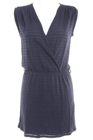 Sessun Stretch jurk donkerblauw gestreept patroon casual uitstraling