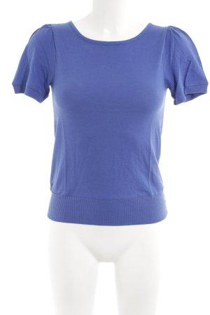 Sessun Strickshirt stahlblau Lochstrickmuster schlichter Stil