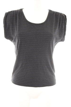 Sessun T-Shirt dunkelgrau-dunkelblau Streifenmuster Casual-Look