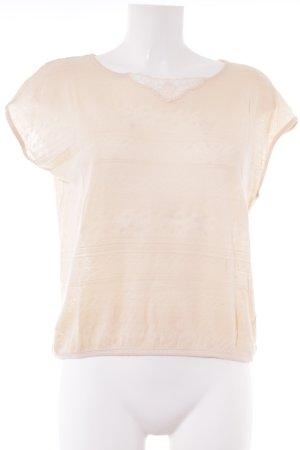 Sessun U-Boot-Shirt creme Casual-Look