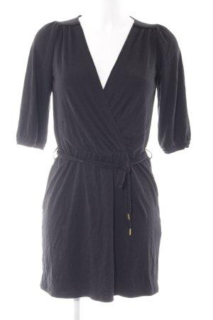 Sessun Wickelkleid schwarz klassischer Stil