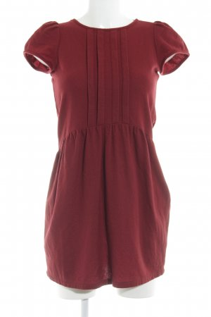 Sessun Wollen jurk donkerrood romantische stijl