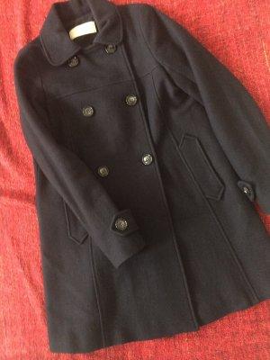 Sessun Abrigo de lana azul oscuro