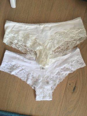 H&M Braguita blanco-crema