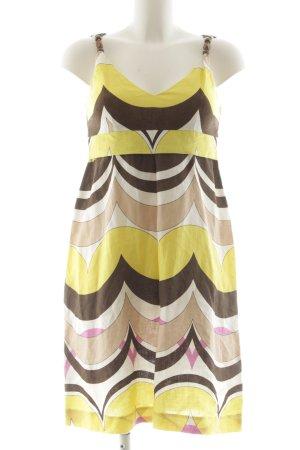 Set A-Linien Kleid Allover-Druck Street-Fashion-Look