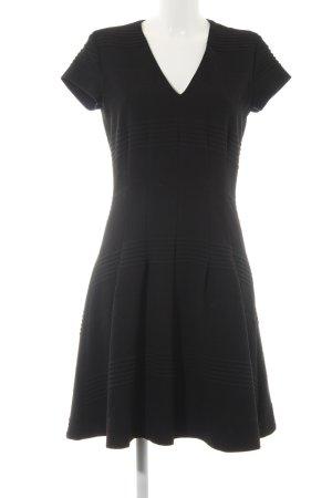 Set A-Linien Kleid schwarz Punktemuster Casual-Look