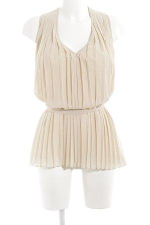 Set ärmellose Bluse nude klassischer Stil