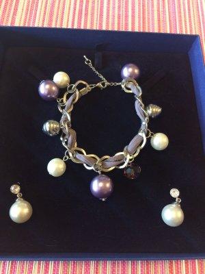 Bracelet lilac-white