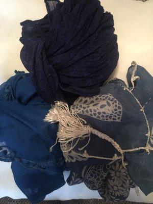 Set aus 3 Schals in Blautönen