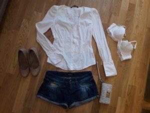 Set aus Bluse Bh und Jeans shorts Gr.36