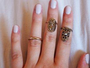 Set aus drei Midiringen / Fingerspitzenringen
