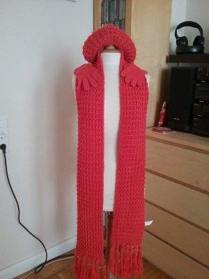 Set aus langem Schal, Mütze und Handschuhen *korallfarben* von ystrdy