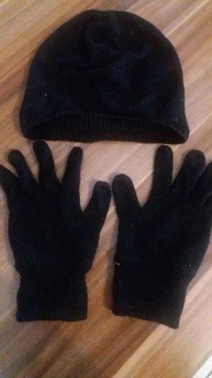 Marc O'Polo Guantes con dedos negro-marrón oscuro Algodón