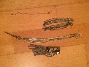Set aus Ohrhängern silber / gold