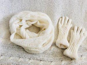 ☃️Set aus Schlauchschal und Handschuhen