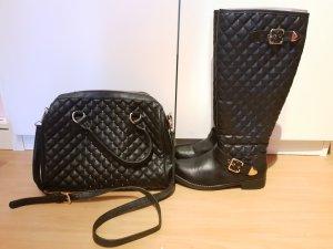 Set aus Stiefel & Handtasche
