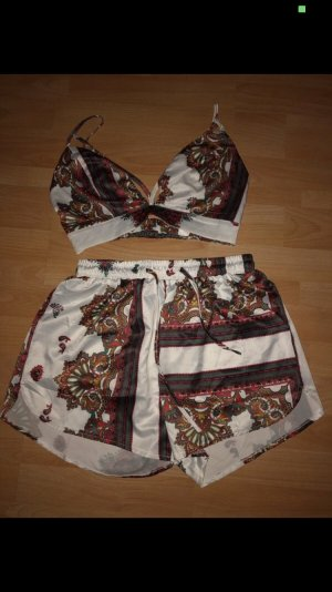Missguided Twin set in jersey multicolore