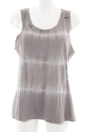 Set Haut basique gris clair-blanc gradient de couleur style décontracté