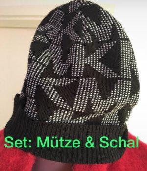 Michael Kors Écharpe en tricot noir-blanc