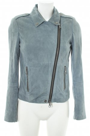 Set Bikerjacke blassblau Casual-Look