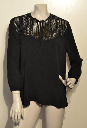 SET Bluse Ausschnitt aus Spitze schwarz Gr. 42 UNGETRAGEN mit Etikett