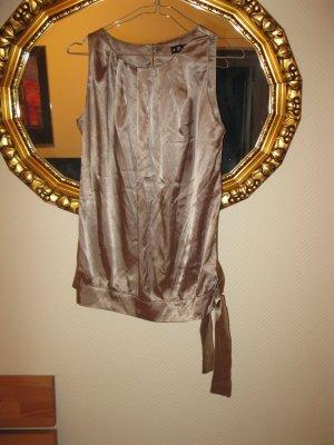 Set: Bluse in Grausilber(beige) + passende Hose in Taupe/Beige (D34) + passende Rollkragenpulli in Goldbeige