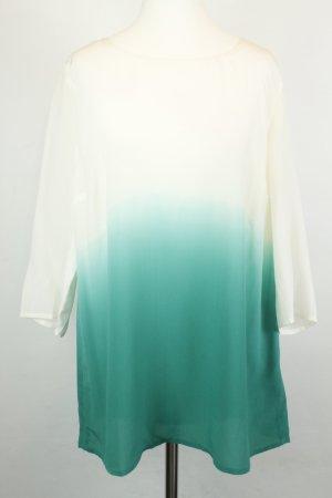 Set Bluse Seidenbluse Gr. 40 weiß grün ombre NEU