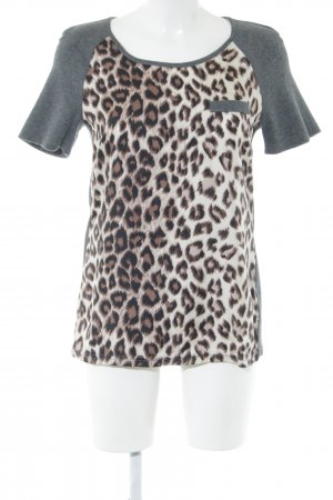 Set Dickey (for blouse) leopard pattern casual look