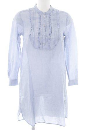 Set Robe chemisier bleu Motif de tissage style classique