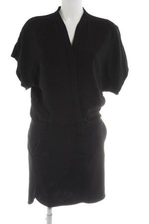 Set Robe chemisier noir style décontracté