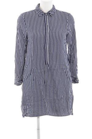 Set Blusenkleid blau-weiß Streifenmuster Business-Look