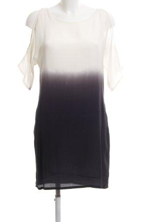 Set Blusenkleid weiß-schwarz Farbverlauf Elegant