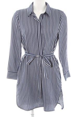 Set Blusenkleid dunkelblau-weiß Streifenmuster Casual-Look