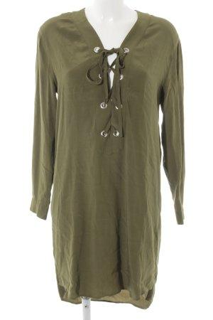 Set Blusenkleid olivgrün schlichter Stil