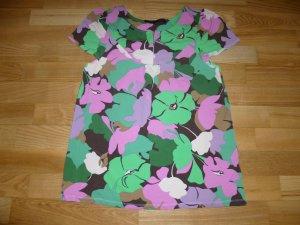 Set V-hals shirt veelkleurig Gemengd weefsel