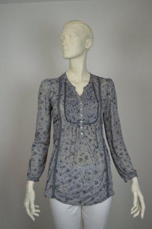 Set by Oui schöne grau geblümte Bluse in Größe 36