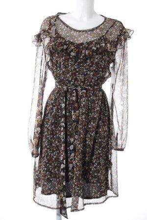 Set Robe chiffon motif de fleur style romantique