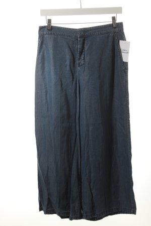 Set Culottes kornblumenblau meliert Jeans-Optik