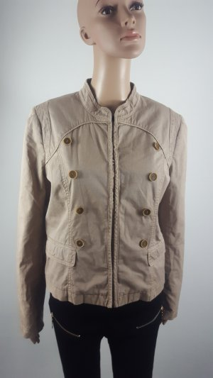 SET Damen Übergangsjacke Militäry Design Jacke beige Größe 40 wie NEU
