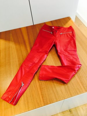 set fashion Damen Leder Hose rot Gr 36