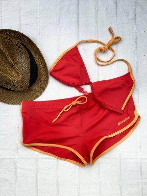 SET: FIREFLY Beachwear Orange, 38/40 + H&M Strohsonnenhut (L58)